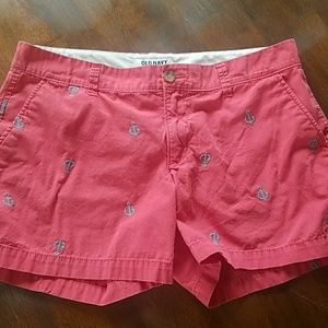 Old Navy pink & blue anchor shorts